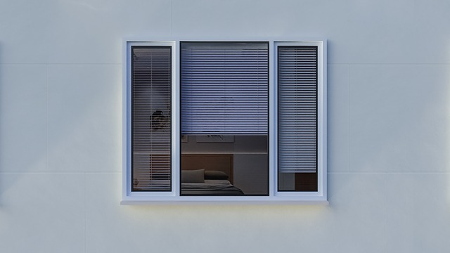 window with motorized shades from the outside